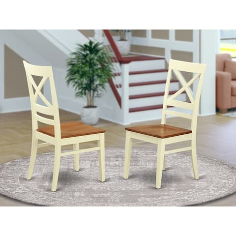 Quincy Wooden Seat X-back Dining Chair