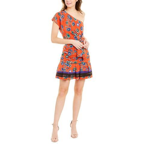 Derek Lam 10 Crosby Off-The-Shoulder Silk Mini Dress