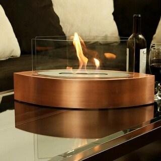 Sunnydaze Barco Ventless Bio Ethanol Tabletop Indoor Fireplace - Copper
