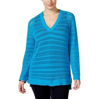 MICHAEL Michael Kors Womens Plus Tunic Sweater Honeycomb Texture - 2x