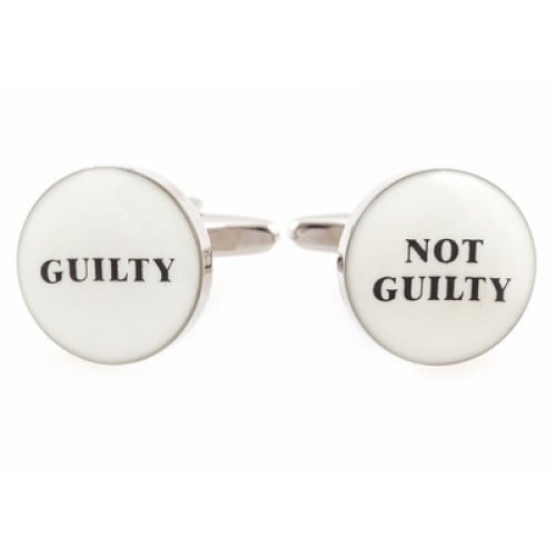 Guilty Not Guilty Judge Lawyer Baliff Paralegal Jury Duty Cufflinks