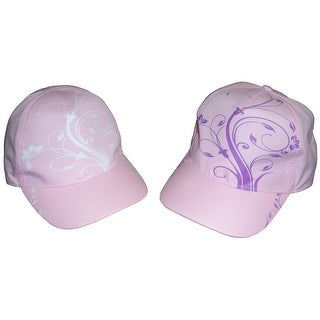 NICE CAPS Girls Floral Scroll Print Magical Color Changing Cap - pink/color change