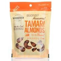 Woodstock Tamari Almonds - Roasted - Case of 8 - 7.5 oz.