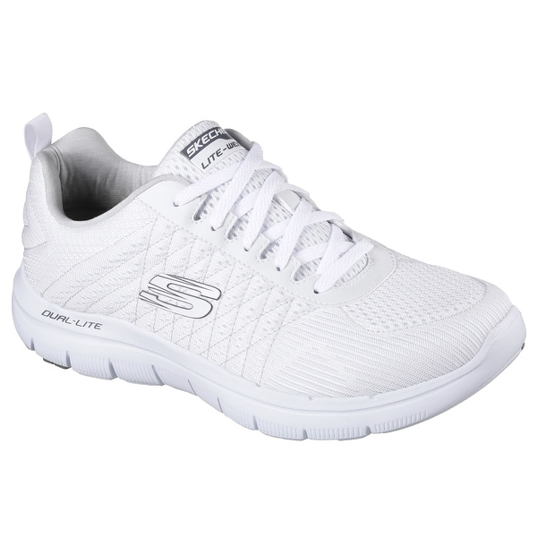 Skechers 52185 WHT Men's FLEX ADVANTAGE 2.0-THE HAPPS Training