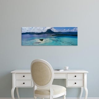 Easy Art Prints Panoramic Images's 'High angle view of islands, Motutapu, Bora Bora, French Polynesia' Canvas Art