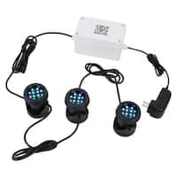 Sunnydaze Wi-Fi Controlled Submersible Color LED Light Kit - 3-Pack
