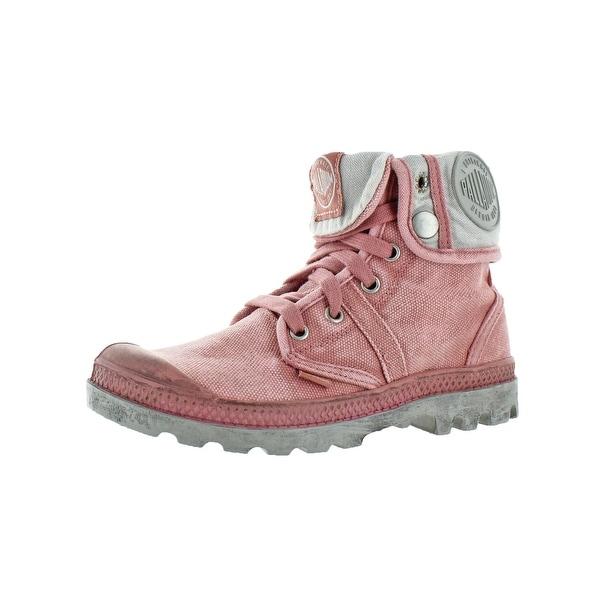 Shop Palladium Womens Pallabrouse Baggy Combat Boots Canvas Fold ... a815cf34373d