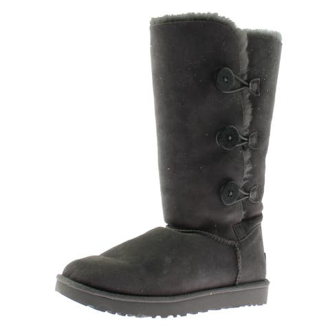 Ugg Australia Womens Bailey Button Triplet II Casual Boots Suede Button
