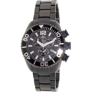 Swiss Precimax Men's Deep Blue Pro II SP12162 Black Stainless-Steel Diving Watch