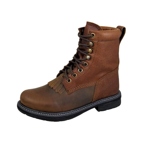 Smoky Mountain Western Boots Boys Panther Lace Up Brown