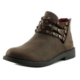 Blowfish Kujan Youth Round Toe Synthetic Brown Ankle Boot