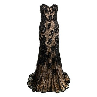 JVN by Jovani Womens Embellished Strapless Formal Dress