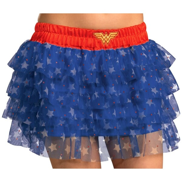 DC Comics Wonder Woman Tutu Costume Skirt Adult Standard - Blue