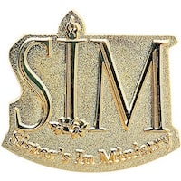Simba LPDS112OS 1.5 in. Power Stamped Brass Lapel Pin - Pack of 150