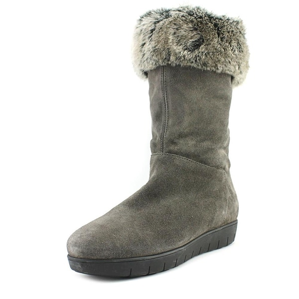 Aquatalia Willow Women Round Toe Suede Gray Snow Boot
