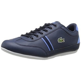 Lacoste Boys Misano Faux Leather Perforated Sneakers - 3.5 medium (d)