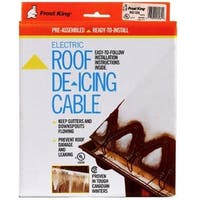 Frost King RC100 Electric Roof  De-icing Cable With Shingle Clips, 100'