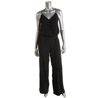 Parker Womens Silk Contrast Trim Jumpsuit