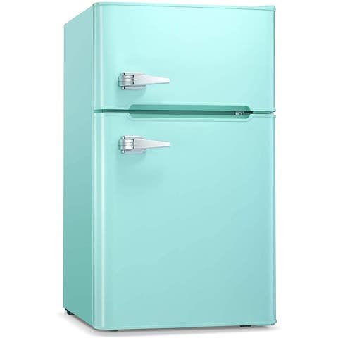 3.2 CU FT Compact Mini Refrigerator Separate Freezer, Small Fridge
