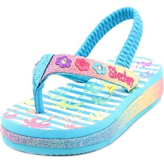 Skechers beach life Toddler Open Toe Synthetic Multi Color Flip Flop Sandal