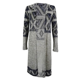 Almost Famous Juniors' Aztec Hooded Duster Cardigan