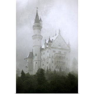 """Chateau in mist"" Poster Print"