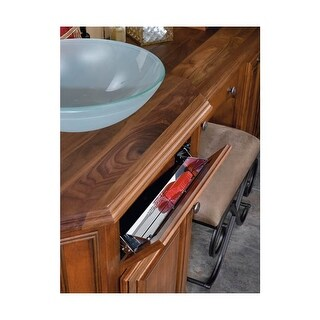 Rev-A-Shelf 6541-16-52 6541 Series 16 Inch Wide Sink Front Tip-Out Tray - N/A