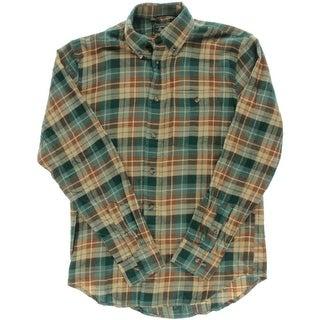 G.H. Bass & Co. Mens Fireside Flannel Flannel Plaid Button-Down Shirt