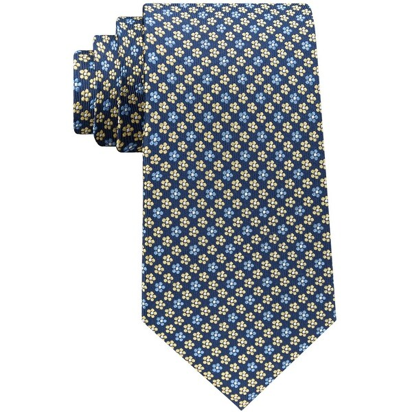 Club Room Mens Botanical Self-tied Necktie, blue, One Size - One Size