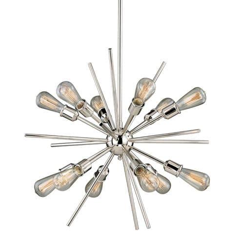 Vaxcel Lighting P0196 Estelle 12 Light 27-1/2  Wide Sputnik Chandelier  sc 1 st  Overstock & Vaxcel Lighting P0196 Estelle 12 Light 27-1/2