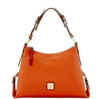 Dooney & Bourke Pebble Grain Small East West Slouch (Introduced by Dooney & Bourke at $228 in Sep 2016) - Tangerine