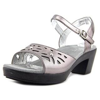 Alegria Reese Women  Peep-Toe Leather Bronze Slingback Sandal