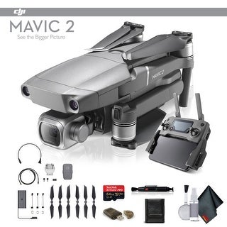 DJI Mavic 2 Pro (CP.MA.00000019.01) With 64GB Memory Card, Memory Card Wallet, Cleaning Kit and More - Starter Bundle