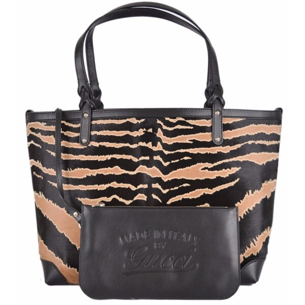 151c8c525370 Shop Gucci 247209 Zebra Print Calf Hair and Leather Craft Purse Bag Tote &  Pouch - Free Shipping Today - Overstock - 12192092