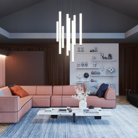 Caden 36-inch LED Pendant with White Acrylic