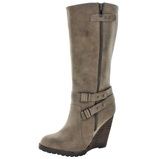 9e8f36757e32 Shop Very Volatile Kearney Women s Buckle Wedge Boots - Free Shipping On  Orders Over  45 - Overstock - 15872614