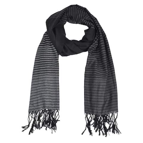 New Women's Brown & Tan Viscose Stripe Scarf scarves LS4580 - Regular