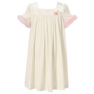 Richie House Girls' Princess Dress with Short Fur