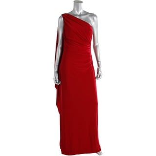 Lauren Ralph Lauren Womens Ruched One Shoulder Evening Dress