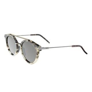 Fendi FF 0225/S 03MA Havana/Ruthenium Round Sunglasses - 49-21-145
