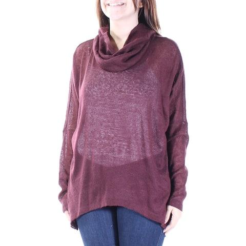 BAR III Womens Burgundy Long Sleeve Cowl Neck Sweater Size XL