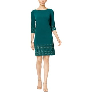 Jessica Howard Womens Petites Casual Dress Studded Sheath