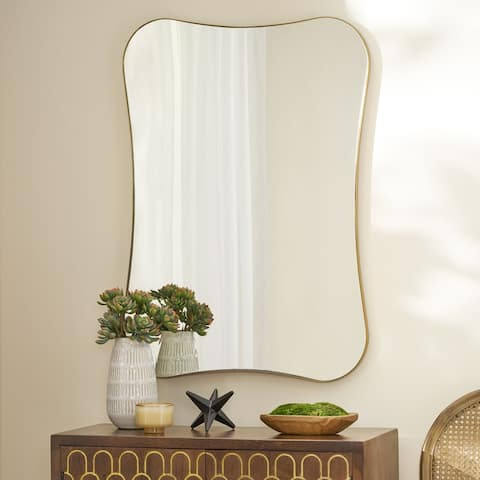 Simmons Contemporary Rounded Rectangular Wall Mirror by Christopher Knight Home