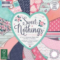 "First Edition Premium Paper Pad 6""X6"" 64/Pkg-Sweet Nothings, 16 Designs/4 Each"