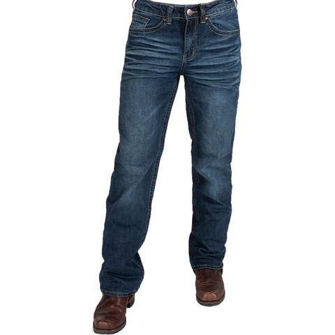B. Tuff Western Jeans Mens Vintage Cool Bootcut Mid Rise Med