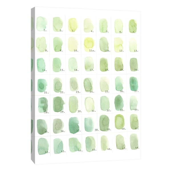 """PTM Images 9-105548 PTM Canvas Collection 10"""" x 8"""" - """"Green Swatches"""" Giclee Abstract Art Print on Canvas"""