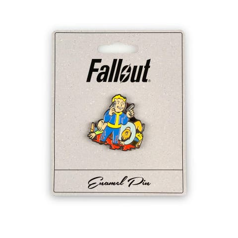 Fallout Better Criticals Perk Pin Official Fallout Video Game Small Enamel Pin - Blue