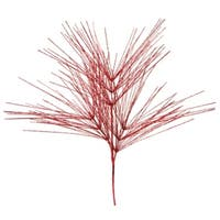 Pack of 6 Red Glitter Artificial Pine Tree Decorative Christmas Sprays 41""