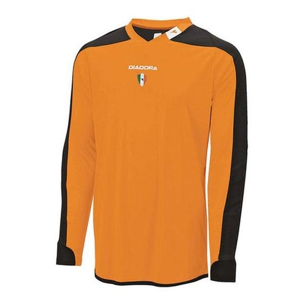 5af4d214 Shop Diadora Men's Enzo Goalkeeper Jersey Fluorescent Orange - Free ...