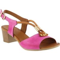 Spring Step Women's Roselyn Slingback Hot Pink Leather